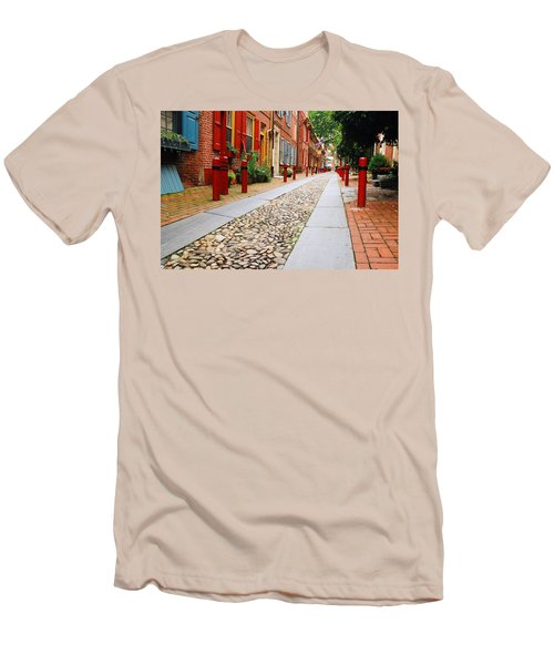 Elfreth Alley Men's T-Shirt (Slim Fit) by James Kirkikis