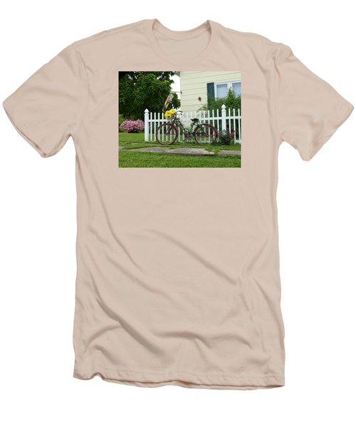 Elmer Bicycle Men's T-Shirt (Slim Fit) by Jana Russon