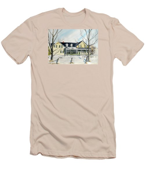 Men's T-Shirt (Slim Fit) featuring the painting Elmridge Farm House by Jackie Mueller-Jones