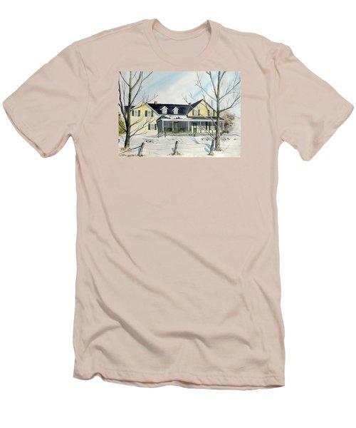 Elmridge Farm House Men's T-Shirt (Slim Fit) by Jackie Mueller-Jones