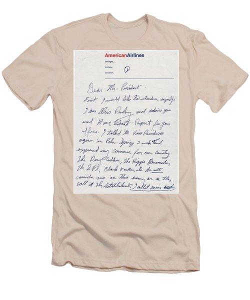 Elvis Presley Letter To President Richard Nixon Men's T-Shirt (Athletic Fit)