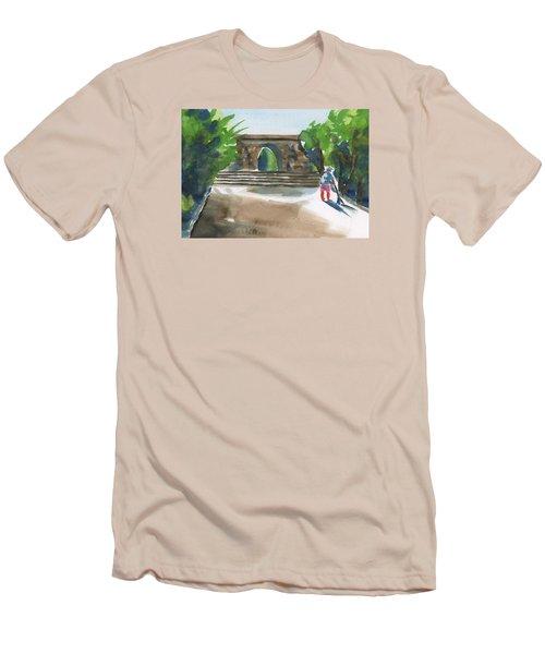 Entrance At Chankanaab Men's T-Shirt (Slim Fit) by Frank Bright