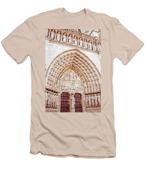 Entrance To Notre Dame Cathedral Men's T-Shirt (Athletic Fit)