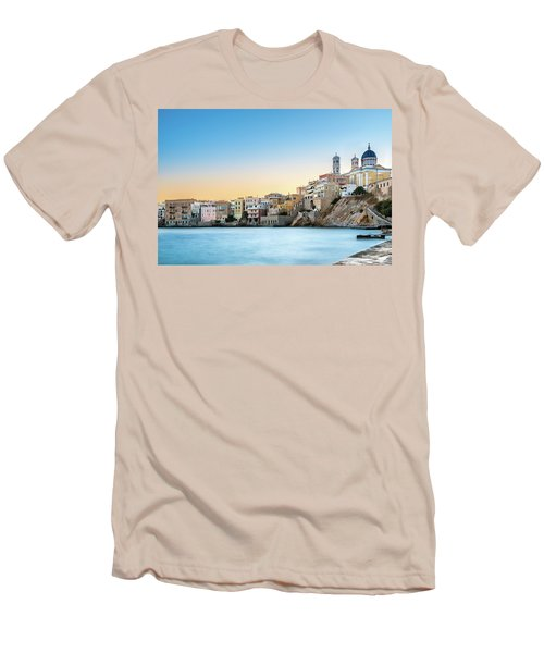 Ermoupoli - Syros / Greece. Men's T-Shirt (Slim Fit) by Stavros Argyropoulos