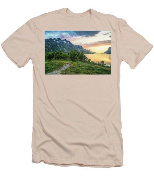 Ersfjord Sunset Men's T-Shirt (Athletic Fit)