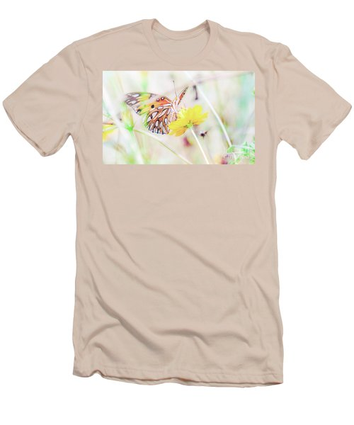 Men's T-Shirt (Athletic Fit) featuring the photograph Ethereal Butterfly by Andrea Anderegg