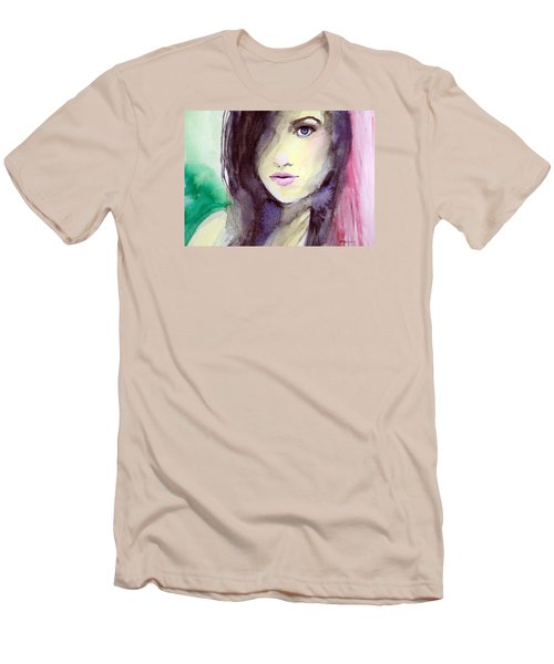 Men's T-Shirt (Slim Fit) featuring the painting Olivia by Ed  Heaton