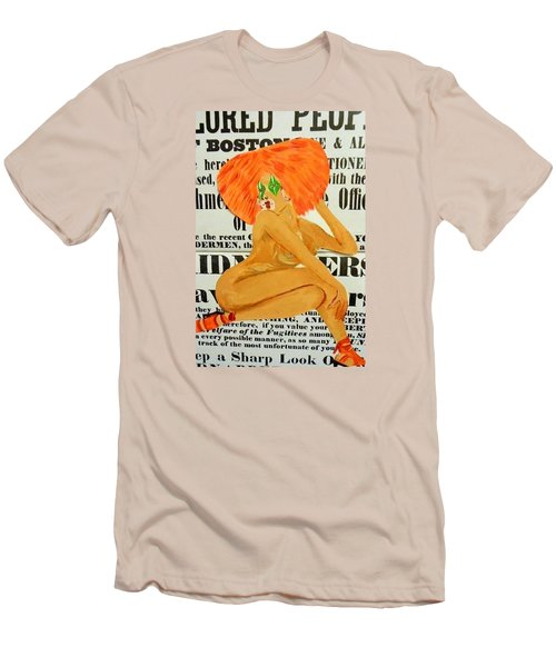Eve  Caution Men's T-Shirt (Slim Fit)
