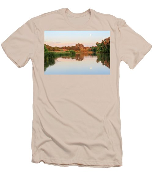 Men's T-Shirt (Athletic Fit) featuring the photograph Evening At The Lake by David Chandler