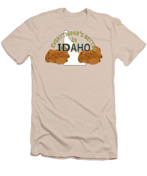 Everything's Better In Idaho Men's T-Shirt (Slim Fit) by Pharris Art