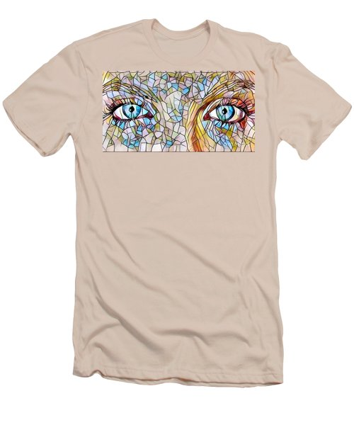 Eyes Of A Goddess - Stained Glass Men's T-Shirt (Athletic Fit)