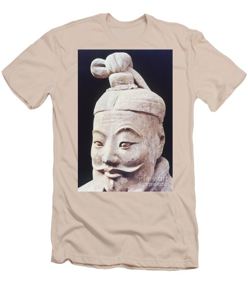 Men's T-Shirt (Slim Fit) featuring the photograph Face Of A Terracotta Warrior by Heiko Koehrer-Wagner
