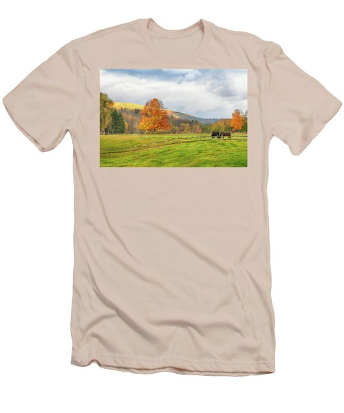 Men's T-Shirt (Athletic Fit) featuring the photograph Fall Colors After The Storm. by Jeff Folger
