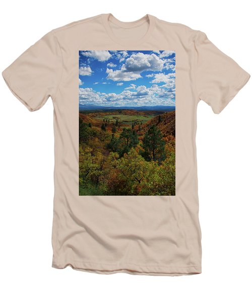 Fall On Four Mile Road Men's T-Shirt (Slim Fit) by Jason Coward