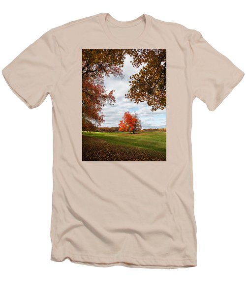 Fall Trees At Oatlands Men's T-Shirt (Athletic Fit)