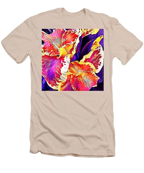 Fanciful Canna  Men's T-Shirt (Slim Fit) by Heidi Smith