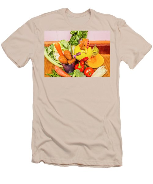 Farm Fresh Produce Men's T-Shirt (Slim Fit) by Jorgo Photography - Wall Art Gallery