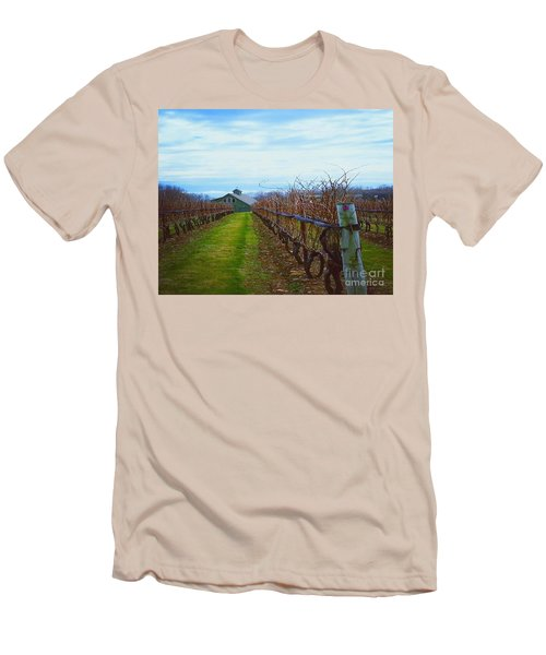 Men's T-Shirt (Slim Fit) featuring the photograph Farm by Raymond Earley
