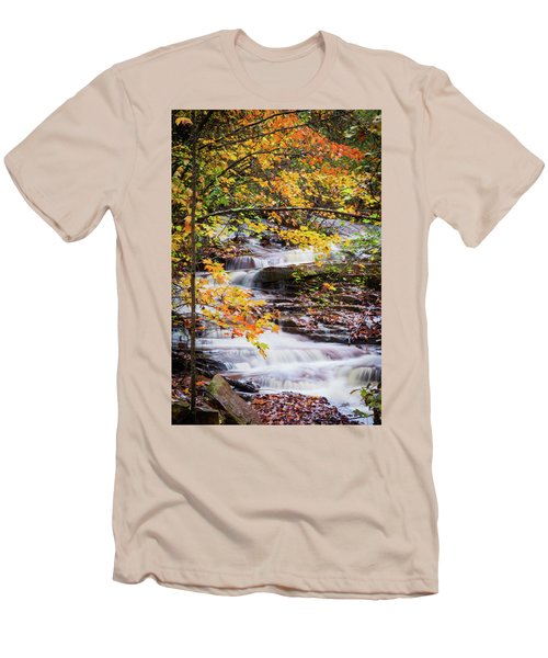 Men's T-Shirt (Slim Fit) featuring the photograph Farmed With Golden Colors by Parker Cunningham