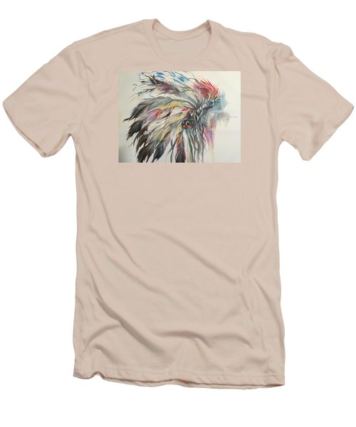 Feather Hawk Men's T-Shirt (Slim Fit) by Heather Roddy