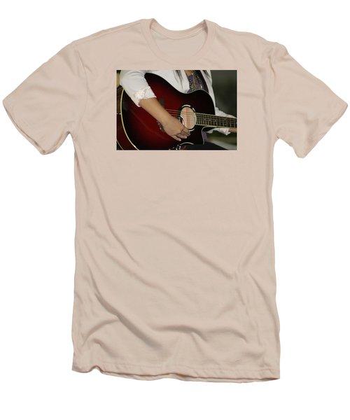 Female Guitarist Men's T-Shirt (Athletic Fit)