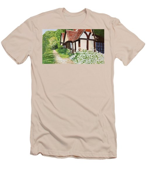 Ferry Cottage Men's T-Shirt (Slim Fit) by Joanne Perkins