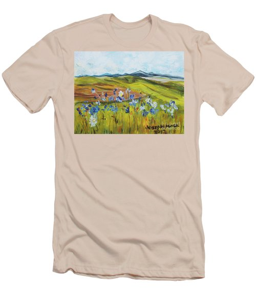 Field With Flowers Men's T-Shirt (Athletic Fit)