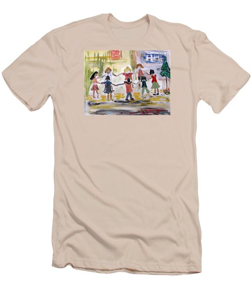Finding Time To Play Men's T-Shirt (Slim Fit) by Mary Carol Williams