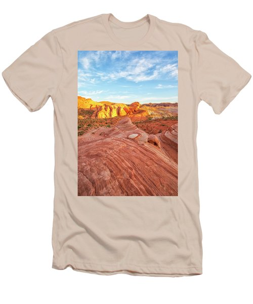 Fire Wave In Vertical Men's T-Shirt (Slim Fit) by Joseph S Giacalone