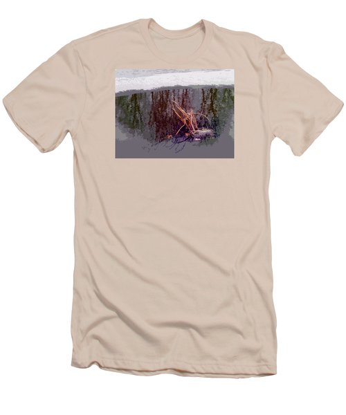Men's T-Shirt (Slim Fit) featuring the photograph First Freeze by Spyder Webb
