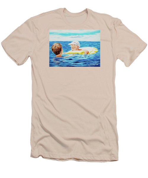 First Swimming - Nadar Primero Men's T-Shirt (Athletic Fit)