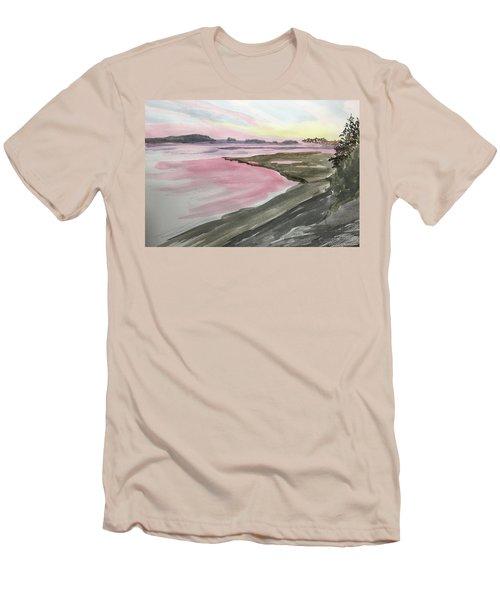 Five Islands - Watercolor Sketch  Men's T-Shirt (Slim Fit)