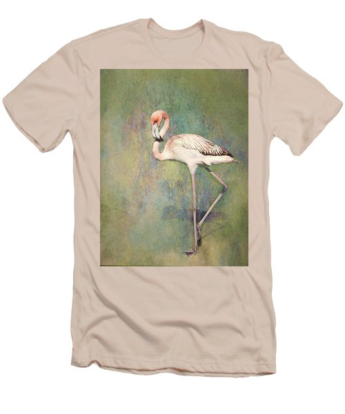 Flamingo Dancing Men's T-Shirt (Athletic Fit)