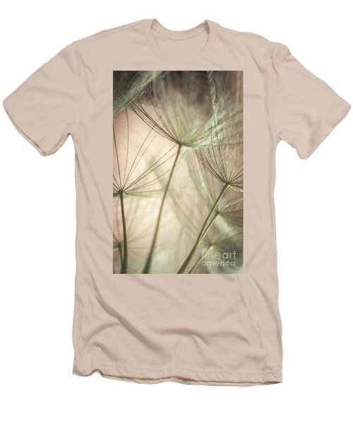 Flamingo Dandelions Men's T-Shirt (Athletic Fit)