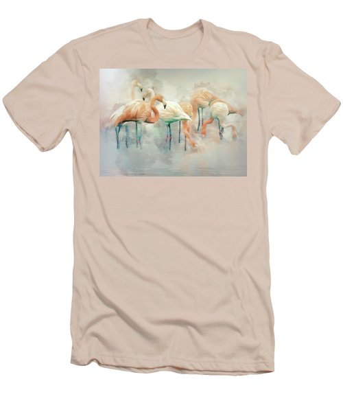 Flamingo Fantasy Men's T-Shirt (Athletic Fit)