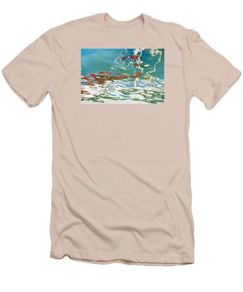 Floating On Blue 35 Men's T-Shirt (Slim Fit) by Wendy Wilton