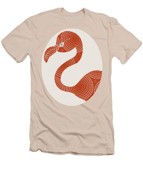 Men's T-Shirt (Slim Fit) featuring the painting Floral Flamingo by Frank Tschakert