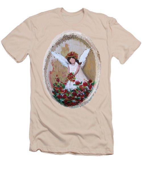 Flower Angel Men's T-Shirt (Athletic Fit)
