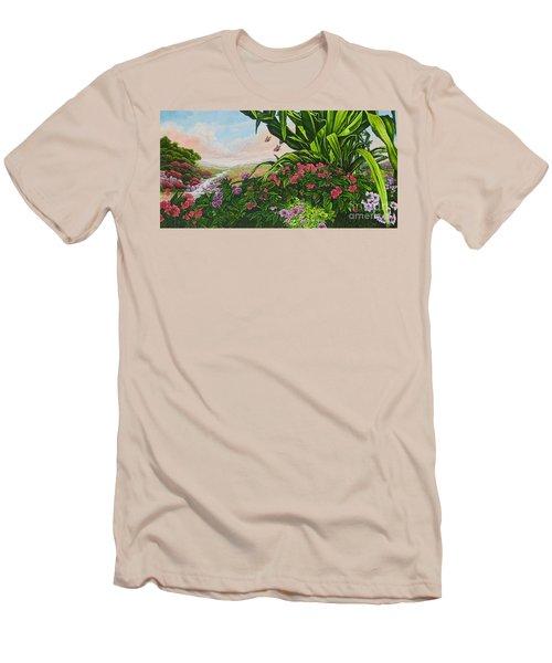 Flower Garden Vii Men's T-Shirt (Athletic Fit)