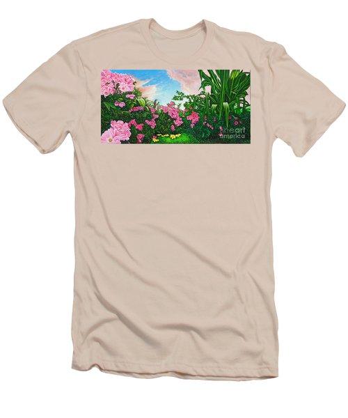 Flower Garden Xi Men's T-Shirt (Slim Fit) by Michael Frank