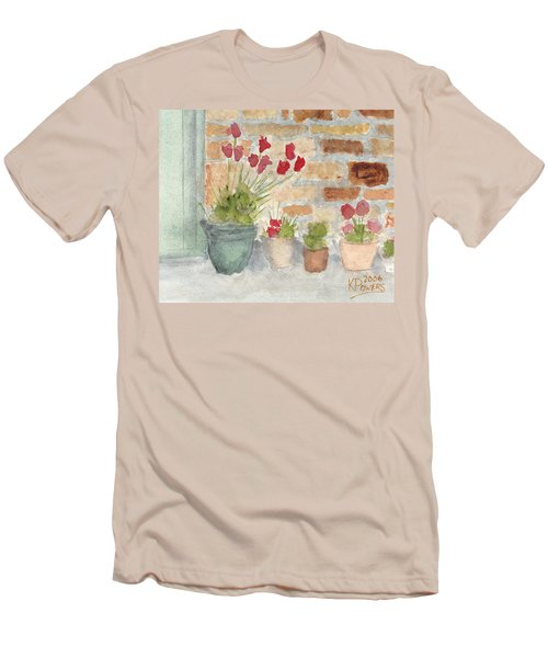 Flower Pots Men's T-Shirt (Athletic Fit)