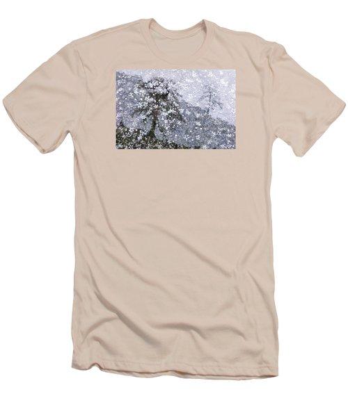Flower Shower Men's T-Shirt (Slim Fit) by Ed Hall