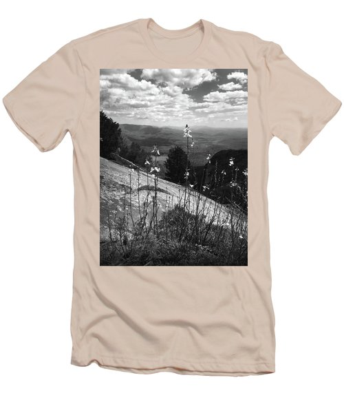 Flowers At The Top Of Table Rock Trail Men's T-Shirt (Slim Fit) by Kelly Hazel
