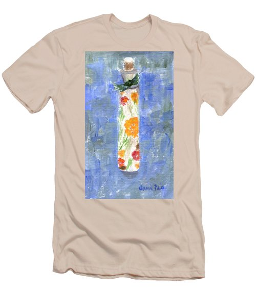 Men's T-Shirt (Athletic Fit) featuring the painting Flowers In A Bottle by Jamie Frier