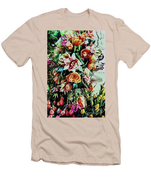 Flowing Bouquet Men's T-Shirt (Athletic Fit)