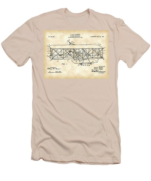 Flying Machine Patent 1903 - Vintage Men's T-Shirt (Slim Fit) by Stephen Younts