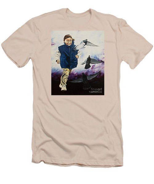 Flying With The Birds - Volar Con Las Aves Men's T-Shirt (Athletic Fit)