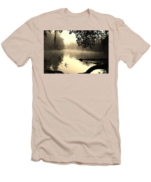Fog And Light In Sepia Men's T-Shirt (Athletic Fit)