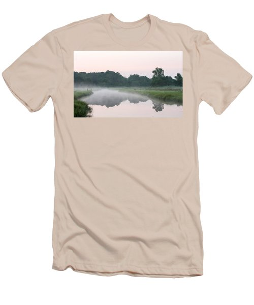Foggy Morning Reflections Men's T-Shirt (Athletic Fit)
