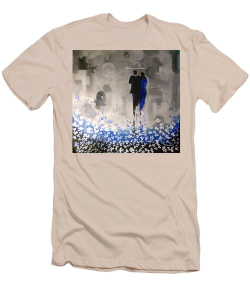 Men's T-Shirt (Slim Fit) featuring the painting Forever Love by Raymond Doward